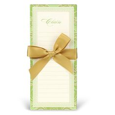 Green and Gold Notep