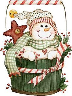 hombres nieve | TERNURITAS DE LA RED artworks, bucket, clipart, clip art, basket, navidad, greeting cards, 3d cards, christmas snowman