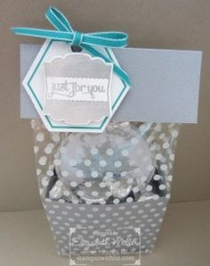 Stampin Up Label Love tagged gift bag