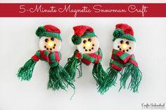 Make Light-Up Snowman Magnets