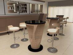 ROUND HIGH TABLE BY ZURI DESIGN