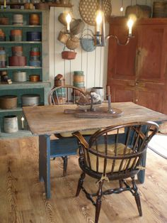 Our wonderful blue base hutch table windsor chair, wonder blue, hutch tabl, blue base