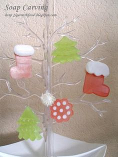 soap carving for christmas ornaments