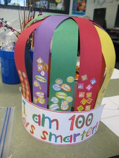 100 day crowns...cute! hats, craft, schools, 100th day, crown, balloons, teacher, friend, kid