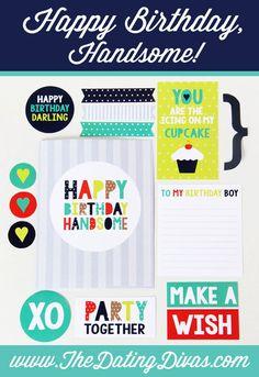 Printable DIY Birthday Card for Him!