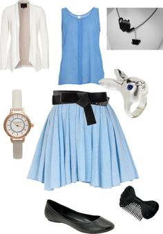 """""""Alice in wonderland Disney inspired outfit"""" by katiebutler2000 ❤ liked on Polyvore"""
