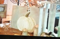 How to paint a pumpkin canvas, art skills not required!!!!