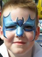 Batman face painting