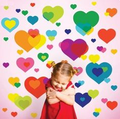 Hearts wall decals can really brighten up a child's room! little girls, overlap heart, heart wall, wall decals, wallcandi art, kid rooms, nurseri, wall stickers, girl rooms