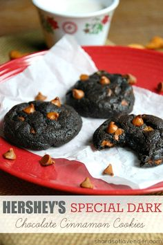 Hershey's Special Dark Chocolate Cinnamon Pudding Cookies | These cookies are perfect for the chocolate fanatic in your life!