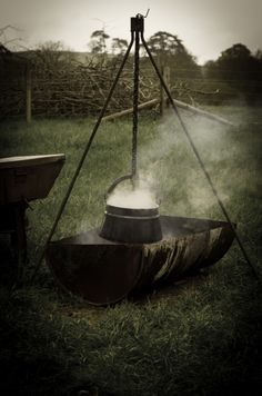 Cooking Over an Open Fire: English Bacon, Leek and Potato Soup | Nourished Kitchen