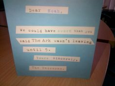 Senior Search Consultant Greg received this card from a thankful client :)
