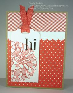 Scalloped Tag Topper Punch, Regarding Dahlias, Hello, Stampin' Up