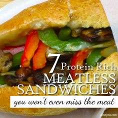 7 Protein Rich Meatless Sandwiches #meatless #healthysandwiches #healthylunchrecipes #easydinners