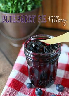 Blueberry Pie Filling - great to make during fresh blueberry season and can! #canning