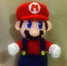 .  Make a Super Mario plushie by crocheting with felt, yarn, and crochet hook. Inspired by super mario, celebrities, and people. Creation posted by Linda P. Difficulty: 3/5. Cost: Cheap.