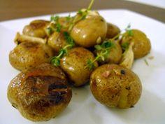 Crisped Roasted Mini Potatoes (recipe by Thomas Keller)