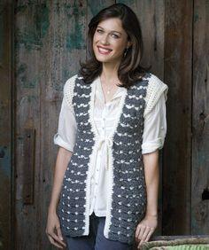 Grey Splendor Vest - free crochet pattern