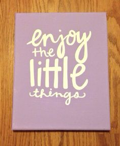 Little Things Canvas Quote by kalligraphy on Etsy, $25.00