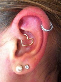 Heart Ear Piercing