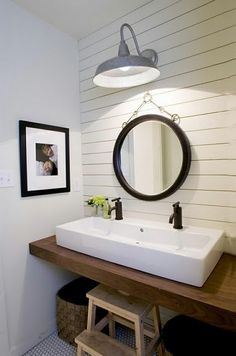 If I had to do a clean-lined updated country  bathroom, it would look very similar to this.