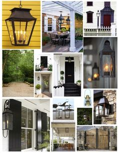 outdoor lantern lighting-Collage by Exterior Impressions