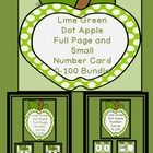 Here is the Lime Green apple number cards in a bundle.  The bundle includes both the Lime Green Apple Full Page Number Cards 0-100 and Lime Green A...