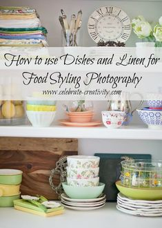Dishes and linen for props