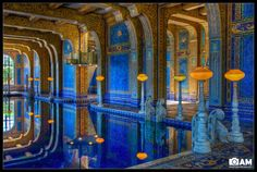 The Hearst Castle, the indoor pool