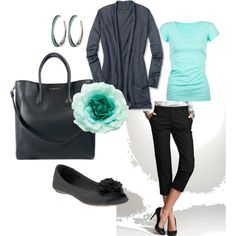 """Dressy capris for summer.  """"Work Outfit"""" by rheart2you on Polyvore"""