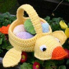 crochet baskets, crochet easter, basket crochet, ducks, blog