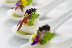 Caviar on Eggs | Barcelona Catering | Mandarin Oriental Hotel, Barcelona #molecular  #gastronomy