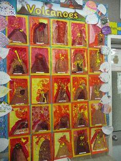 Volcanoes classroom display photo