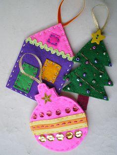 fun felt ornaments