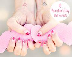 10 Valentine's Day Nail Tutorials