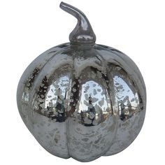 Silvery fall decor! Mercury Glass Pumpkin by White x White