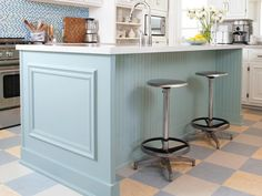 Kitchen Island inspiration, this will be our island color, with white cabinets, and dark hardwood floors