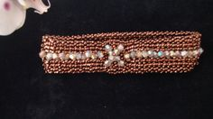 Copper and Crystal bangle by Ravenmood on Etsy, $35.00