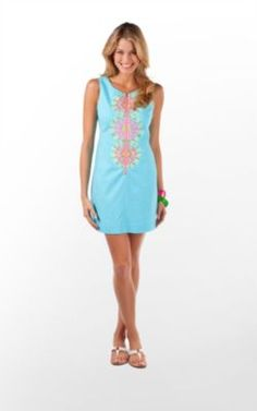 Kolby Dress in Shorely Blue Bloomin Garden Embroidery $248 (w/o 6/24/12) #lillypulitzer #fashion #style