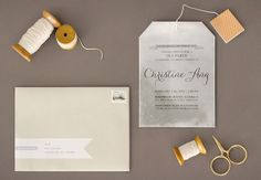 Tea Bag Bridal Shower Invitation Joy Ang