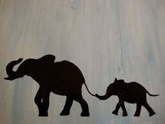 an acrylic painting...I love elephants