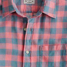 Summerweight Twill Shirt in Buffalo Check
