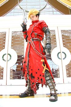 Battle damaged Vash the Stampede. Such an amazing job on the bullet holes in the coat!