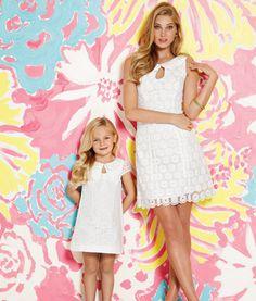 takie same sukienki dla mamy i córki / Lilly Pulitzer Spring 2013 - Nicci Dress in Resort White Pinwheel Organza