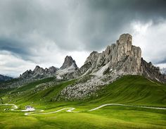 Bike riding in the Dolomites in Italy