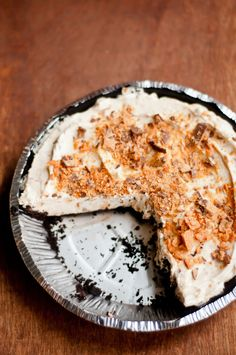 no bake butterfinger mousse pie #peanutbutter