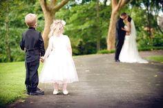 cute wedding pic! little children precious