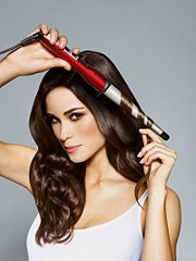 """""""How To"""" Curling Wand Tip--Hold wand at a downward angle; a common mistake people make is to hold it upwards."""