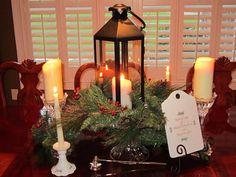 Christmas Dining Room Centerpiece