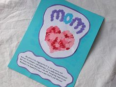 Mother's Day thumbprints card